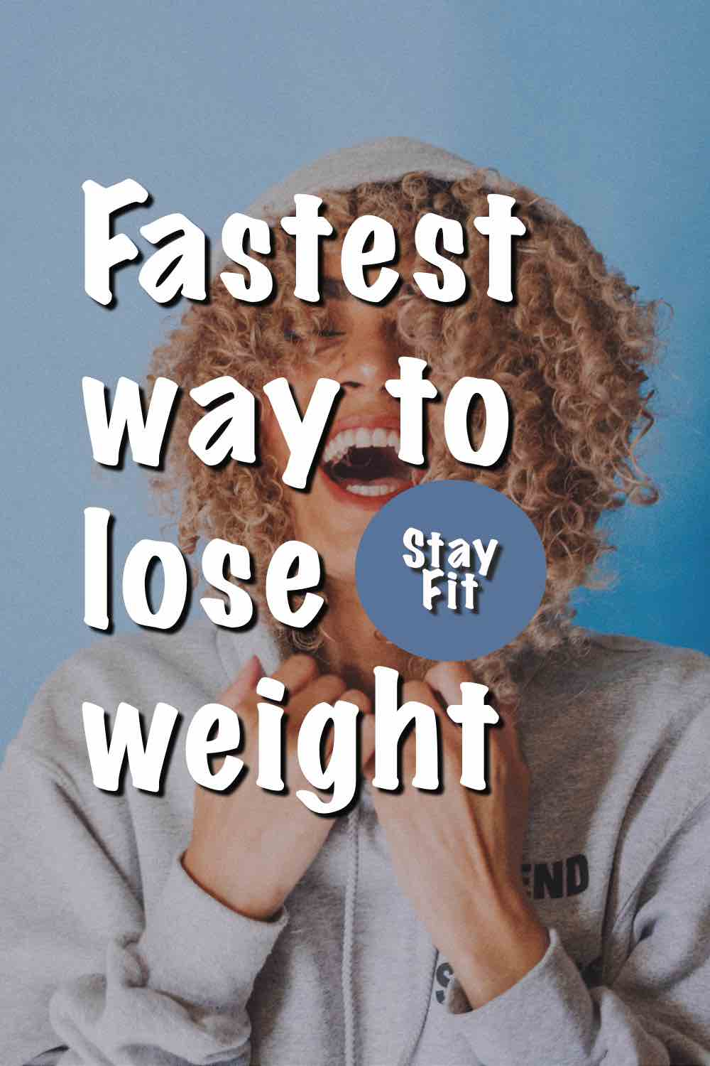 A happy woman knowing the fastest way to lose weight