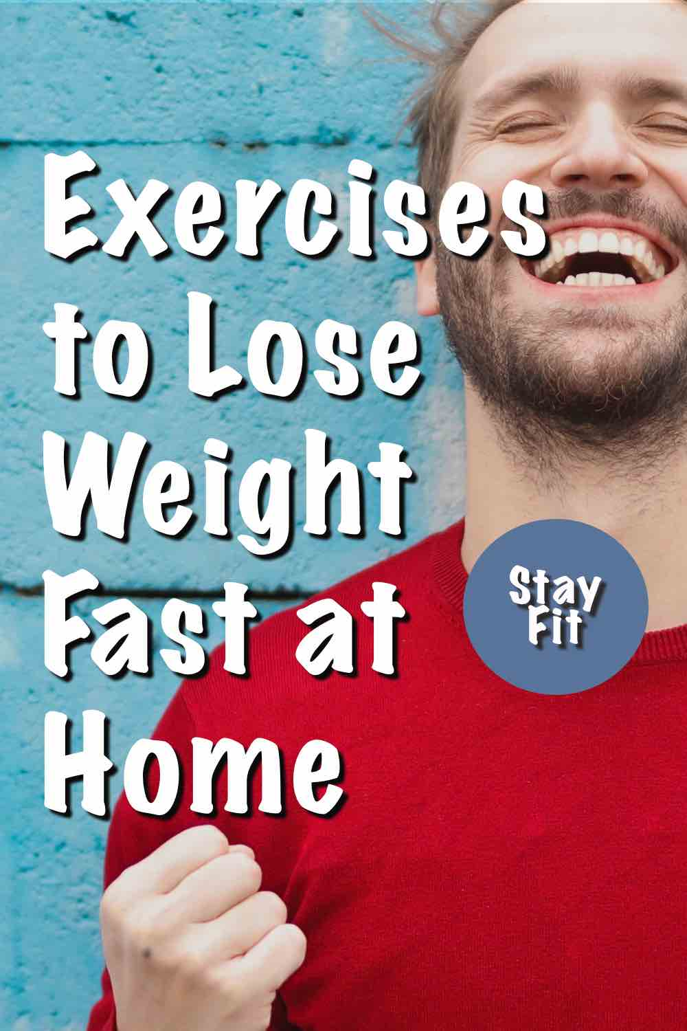 A man doing exercises to lose weight fast at home